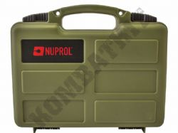 Nuprol Hard Case Green Resin for Airgun Pistol Airsoft BB Guns Lockable Wave Foam Liner 31x21cm